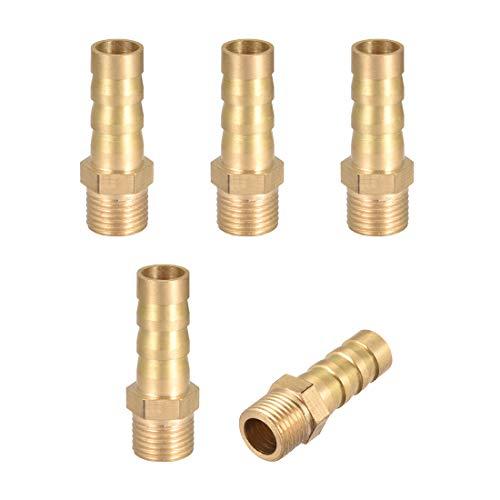sourcingmap 1//4BSP 8mm Interne Dia cuivre Raccord cannel/é coupleur connecteur 4pcs
