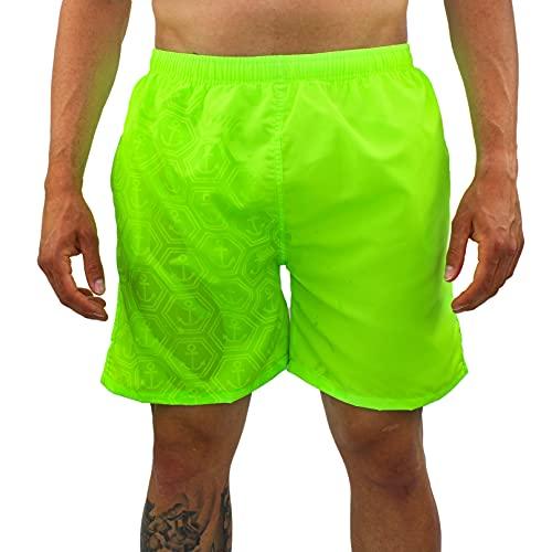 costume mare uomo cotone Costume Uomo Mare Che Cambia Colore Pantaloncino Corto da Bagno (Giallo Fluo