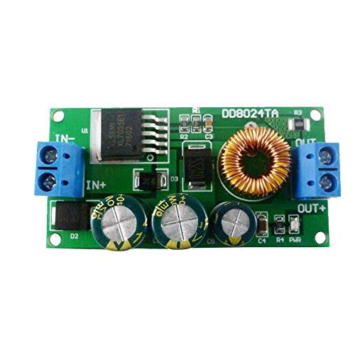 Nicejoy Paso Junta de Down alimentación de Alto Voltaje módulo de Fuente de 10-80v a 9v Buck Converter con terminales para batería de Coche Azul para el hogar