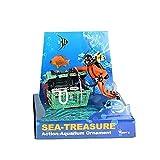 Diver Hunter Cofre del tesoro submarino paisaje ornamento de dibujos animados pecera acuario paisaje decoración