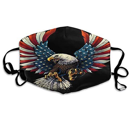 Gezichtsmaskers America Eagle patroon Us Flag Sportmasker tegen stof beschermde glimlachende maskers wasbaar herbruikbaar mondmasker wit