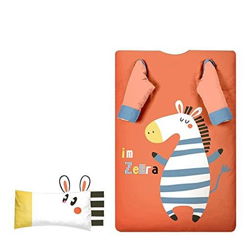 CLNAONG Bolsa De Dormir, Algodón Bebés y Niños Saco de Dormir la Siesta del niño del edredón Estera con extraíble Almohada bebé del Invierno Anti-Kick Saco de Dormir de Dibujos Animados