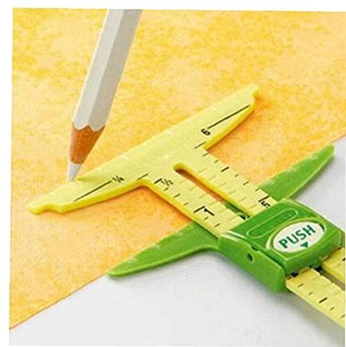Dispositivo De Medición De Deslizamiento De 5 En 1 Herramienta De Costura Patchwork Ruler Cutter Accesorios para Hogar