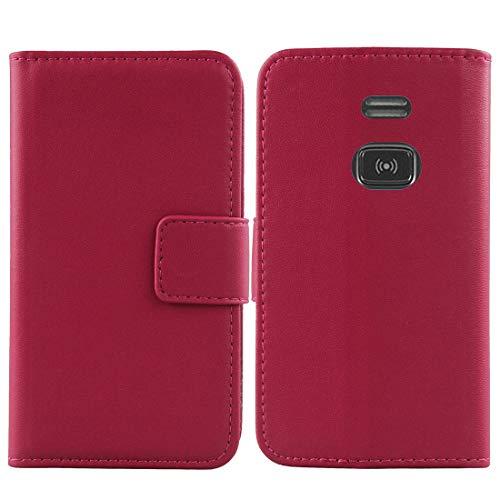 Lankashi Flip Echt Leder Tasche Für Doro PhoneEasy 508 1.8