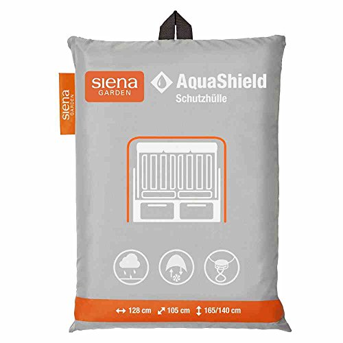 Siena Garden D41179 AquaShield Strandkorbschutzhülle, silber-grau, mit Active Air System, 128x105x165cm