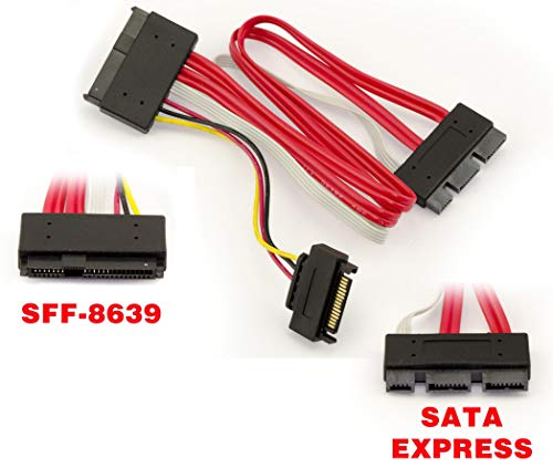 Heretom Mini-SAS SFF-8088 Kabel SFF8088 26-Pin to 4 SAS SFF-8482 SFF8482 29pin with Power Cable 2 M
