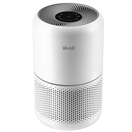 LEVOIT Air Purifier for Home Allergies and Pets Hair Smokers in Bedroom, H13 True HEPA Filter, 24db Filtration System Cleaner Odor Eliminators, Remove 99.97% Dust Smoke Mold Pollen, Core 300, White