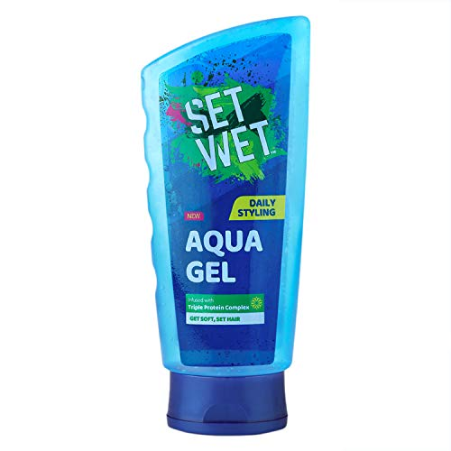 Set Wet Aqua Hair Gel, Infused With Triple Protein Complex - 200 ml