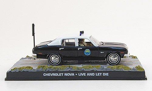 Chevrolet Nova, Polizei, schwarz/weiss, James Bond 007, 1973, Modellauto, Fertigmodell, SpecialC.-007 1:43