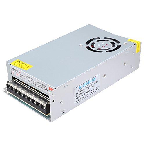NEWSTYLE 12V 20A Alimentatore, AC 110V/220V to DC 12V 240W 20A Accessorio per Stampanti 3D,LED Striscia luci CCTV Computer Progetto Sistema di Sicurezza