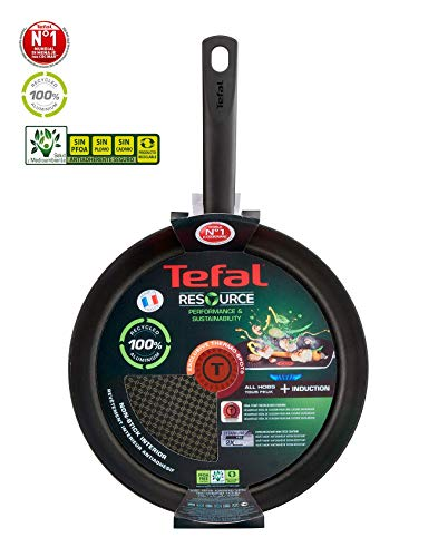Tefal Resource Sartén Antiadherente, Inducción, Aluminio 100 % reciclado (Resource, 24cm)