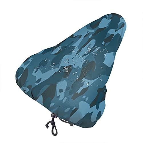 Bong6o Soldier - Funda para asiento de bicicleta de gel de camuflaje militar, unisex, extra suave, resistente al agua, resistente al agua