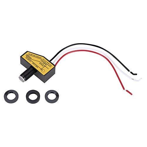 Zunate Mini Fotocélula Interruptor Fotoeléctrico del Interruptor Lámpara Sensor, Mini Sensor de conmutación de luz Fotocélula remota Dusk To Till Dawn
