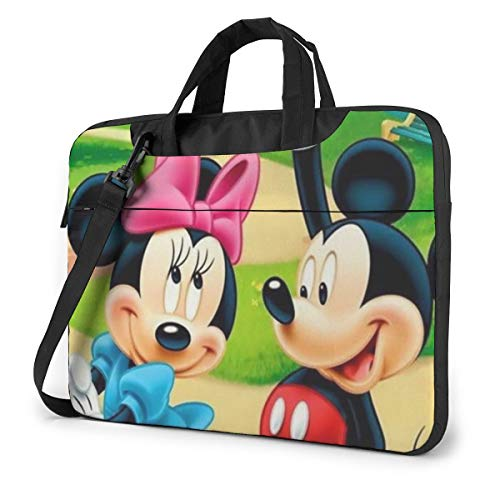 13 Inch Laptop Bag Mickey and Minnie Mouse Laptop Briefcase Shoulder Messenger Bag Case Sleeve