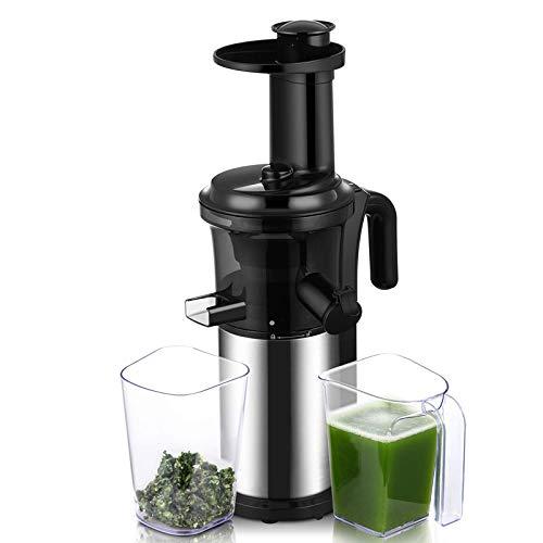FAY Langsam mastizierender Entsafter, 200 W, 40 U/min Obst- und Gemüsesaftpresse, geräuscharm, abnehmbar, kompakt, kaltgepresst, Saftpresse - BPA-frei