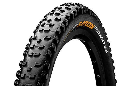 Continental Mountain Bike ProTection Tire - Black Chili, Tubeless, Folding Handmade MTB Performance Tire (26', 27.5', 29'), 26 x 2.4, Der Baron Projekt