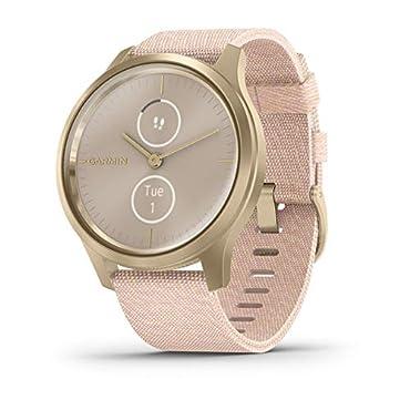 Garmin vivomove Style Hybrid Smartwatch (Light Gold with Blush Pink Band)