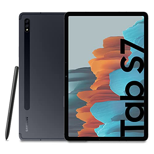 Samsung Galaxy Tab S7 Tablet S Pen, Snapdragon 865 Plus, Display 11.0' WQXGA, 128GB Espandibili fino a 1TB, RAM 6GB, Batteria 8.000 mAh, LTE, Android 11, Mystic Black [Versione Italiana]
