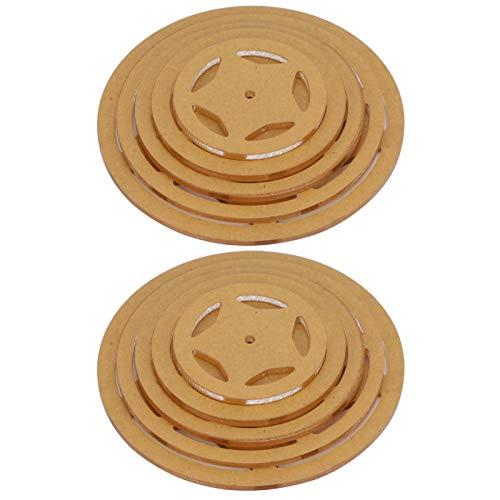 SALUTUYA Hochwertige haltbare runde Acrylschablonenschablone zum Schneiden von Patchworkmustern für Innovative Geschenke