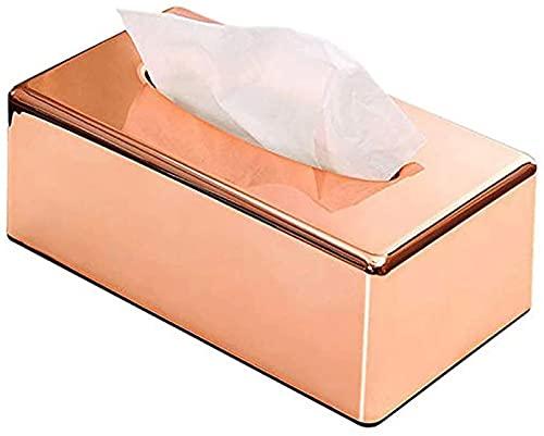 NBXLHAO Caja de pañuelos - Caja de Tejido metálico Moderna para Cajas de Tejido Desechables, Soporte Rectangular para Almacenamiento en vanidad de baño, encimera