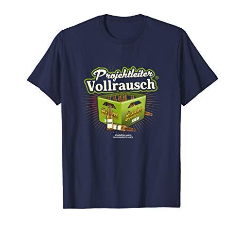 Bier Design Bierkasten Projektleiter Vollrausch (R) Bier T-Shirt