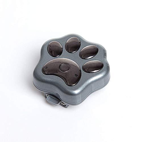 Localizador de mascotas a prueba de agua Seguimiento 3G Localizador de rastreador de GPS para mascotas Cuello de perro Dispositivo anti-perdido Miniatura Mascota de waterloo ( Color : Black )