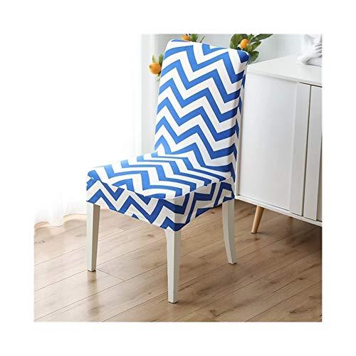 ASVNDD Gedruckt Dining Chair Abdeckung Spandex Elastic Stuhlbezug Stretch-Kasten Stühle Esszimmer Hochzeit Küche Bankett (Color : 2, Specification : 2 pcs)