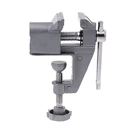 Mini tablet Swink Vise, pinzas bloqueo giratorias con mandíbulas móviles, herramienta reparación manualidades aleación aleación aluminio liviana Libera tus manos, para la fabricación modelos taladro