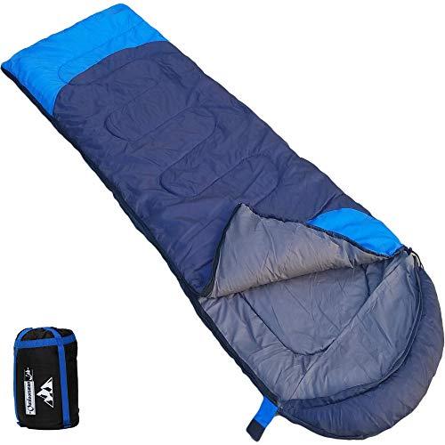 Outdoorsman Lab Sleeping Bag for Adults & Kids - All Seasons Warm & Cool Weather - Ultralight (2.9...