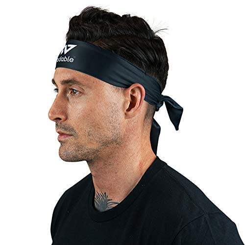WODABLE Black Tie Up Performance Fascia ninja stile karate Kid taglia unica, unisex