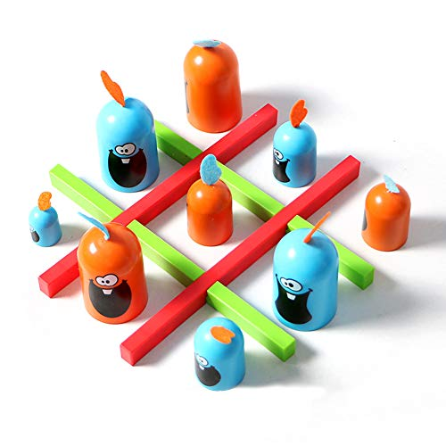Kalaokei 12Pcs Kinder Kinder Cartoon Gobblet Gobblers Schachbrett Spiel Interaktives Spielzeug