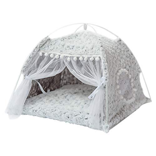 BZZBZZ Winter Cat Tent, Portable Foldable Enclosed Pet Nest with Canopy and Soft Mat, Maximum Load 6kg — Four Seasons Universal