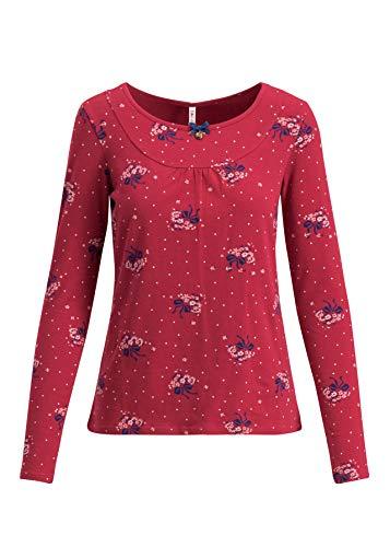 Blutsgeschwister Damen Langarmshirt Good fairywood longsie Single-Jersey-Shirt Sweet Bow XL