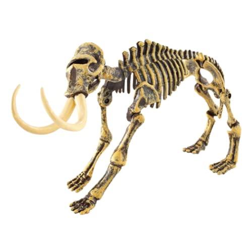 Tuzoo Esqueleto De Dinosaurio, Juguetes De Esqueleto De Dinosaurio, Decoración del Hogar, Modelo Educativo De Plástico De Alta Simulación, Juguete para Niñas para Niños De 7 A 14 Años(Mamut)