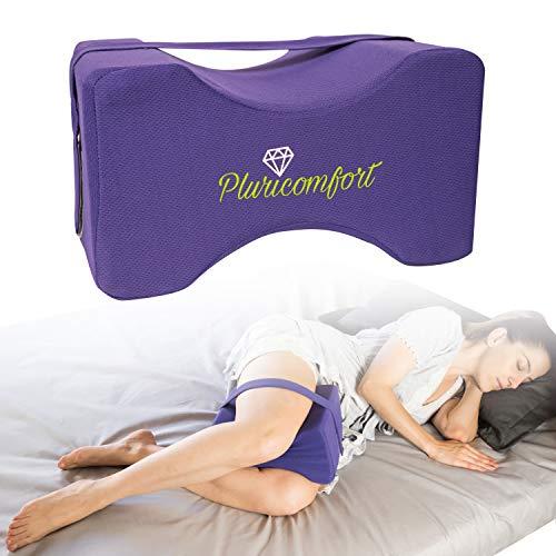 Pluricomfort Cuscino Ortopedico per Ginocchia e Gambe per Dormire sul Fianco - Ottimo in Gravidanza