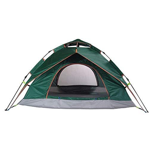XBR Carpa de Lujo Bolsa de Almacenamiento portátil 3-4 Personas Camping Camping Carpa automática Carpa Abierta de Dos Pisos para Pesca con Mochila (Color: Verde, Tamaño: 210cm * 220cm * 140cm)
