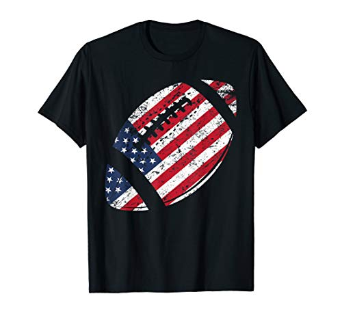 American Football 4th July American Flag Patriotic Gift T-Shirt