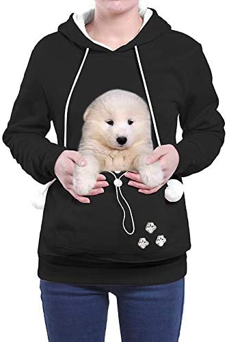 Graphic Sweatshirt Womens Pullover Animal Pouch Hooded Carry Cat Blouses Long Sleeves Hoodies Sweatshirts with Pocket
