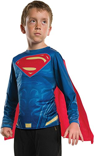 Rubie's Boys Justice League Superman Costume Top, Medium, As Shown