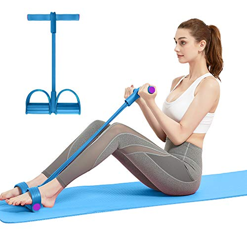 COWINN Multi-Function Pedal Resistance Band für situps Pedal Zugseil Resistance Bands Bodybuilding Expander Abdominal Fitness Rally Pedal Puller sit-up Beintrainer Bauchtrainer (blau)