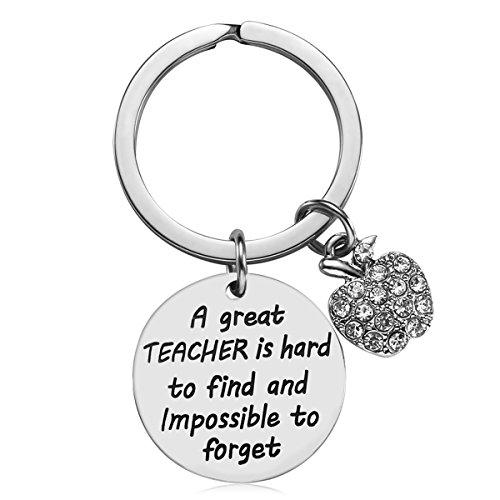 Teacher Appreciation Gift for Women - Teacher Keychain Teacher Jewelry Teacher Gifts,Thank You Gifts for Teacher, Christmas Gifts for Teacher Valentine's Day Gift