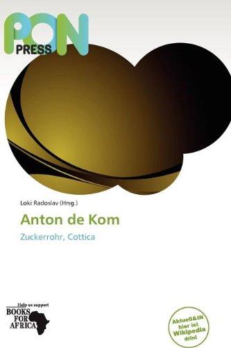 Anton De Kom