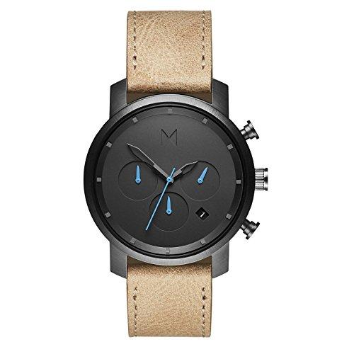 MVMT Herren Chronograph Quarz Uhr mit Leder Armband D-MC02-GML