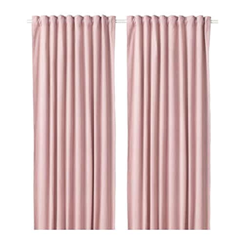 IKEA Sanela Curtains 1 Pair Light Pink 104.140.14 Size: 55x98