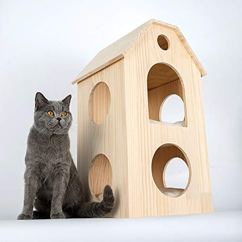 Horse | Cat Scratching Post Tower Tree Pet Palace,Multi Level Cat Climbing Frame for Pets To Play,Large Deluxe Entertainment Pet Activity Centre Bed Toys,Pet Supplies,Brown, Gym exercise ab workouts - shap2.com