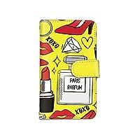 [bodenbaum] AQUOS sense4 SH-41A / SH-RM15 / A003SH 手帳型 スマホケース カード ミラー スマホ ケース カバー ケータイ 携帯 SHARP シャープ アクオス センスフォー docomo リップ 香水 ダイヤ ハイヒール a-006 (C.イエロー)