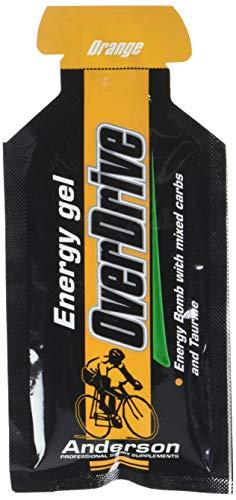 Gel energetico Anderson Overdrive 18 stick da 30g Arancia Bustine monodose con maltodestrine e taurina