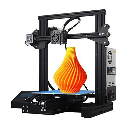 WUAZ Imprimante 3D, Tout en Métal Imprimante 3D avec Fonction Reprendre L'impression Et L'alimentation Haute Température Chauffée Lit, Écran Tactile