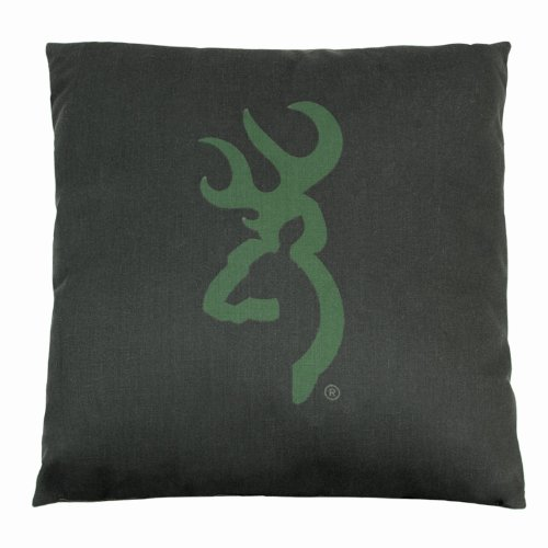 Browning Buckmark Camo - Green - Logo Pillow - Light Logo, Dark Ground