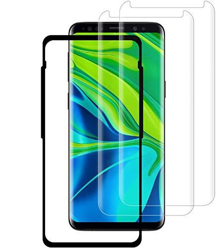 MASTKET S9 Plus pellicola protettiva per lo schermo [confezione da 2] cornice di allineamento [copertura curvere] [ultra trasparente] S9 Plus vetro temperato per Samsung Galaxy S9 Plus